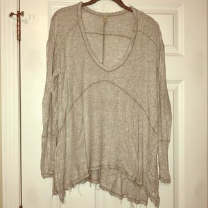 Free People Raw Edge long Sleeve Henley